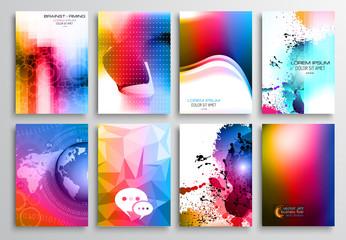 Set of Flyer Design, Web Templates. Brochure Designs,