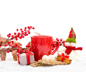 Hot winter tea