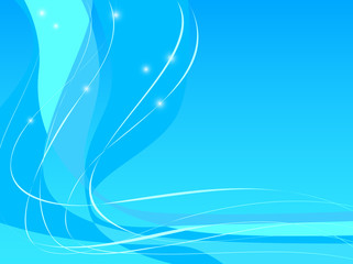 Blue Abstract Background Blue Swoosh Design with lines and spark