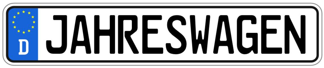 Jahreswagen Schild  #141124-svg02