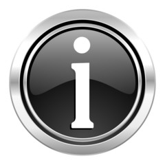 information icon, black chrome button