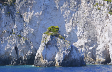landscape of the beautiful island of Zante in Greece