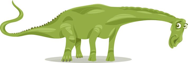 diplodocus dinosaur cartoon illustration