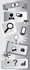 Business icons infographic