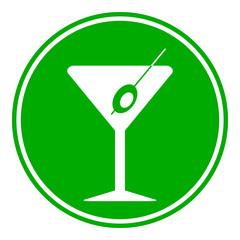 Martini glass button