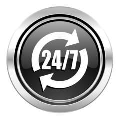 service icon, black chrome button