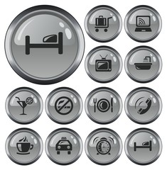 Hotel button set