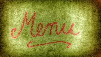menu...Weihnachtsmenu - vintage style