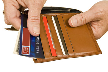 Hands Paying With Debit or Credit Card