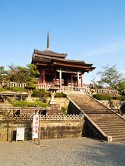 Kiyomizu temple at Kyoto , Japan