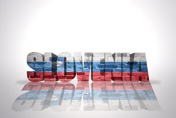 Word Slovenia on the white background