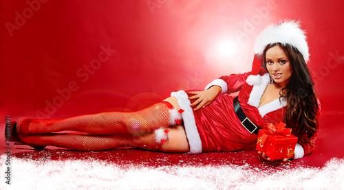 canvas print picture weihnachtsfrau