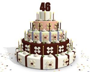 Taart met chocolade cijfer 46