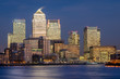 Obrazy na płótnie, fototapety, zdjęcia, fotoobrazy drukowane : London, Canary Wharf (blue hour)