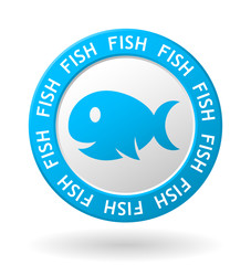 vector fish meat circle icon