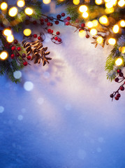 Art snowy Christmas background;