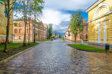 Street in Daugavpils old fortress, Latvia