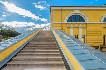 Steps at  Mark Rothko Art Centre in Daugavpils, Latvia