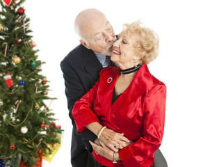Holiday Seniors - Christmas Kiss
