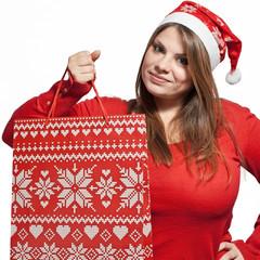 Christmas girl with bag