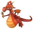 canvas print picture - Fun dragon