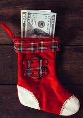 Christmas money sock