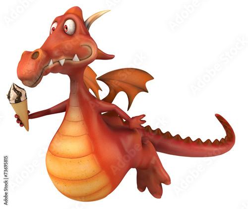 canvas print picture Fun dragon