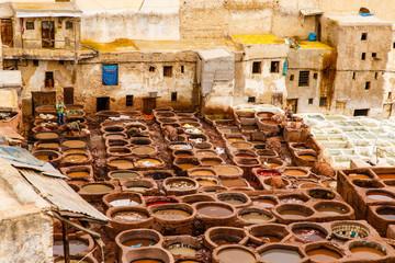 Leerbewerking in Fes, Marokko