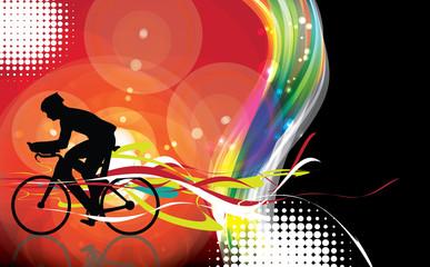 Bikers silhouette. Vector illustration