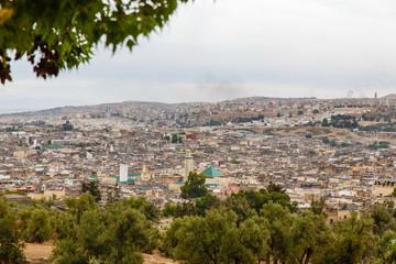 Panorama van Fes, Marokko