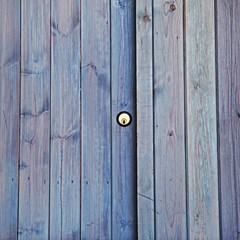 Lock on shed door, property, exteriors, security or back