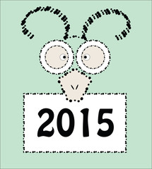 2015 Chinese New Year of the Goat eastern elements composition