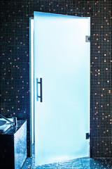 Modern glass door