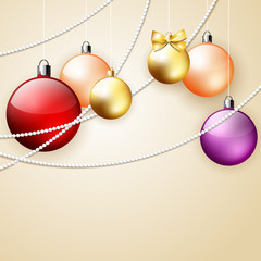 Christmas vector ornament background