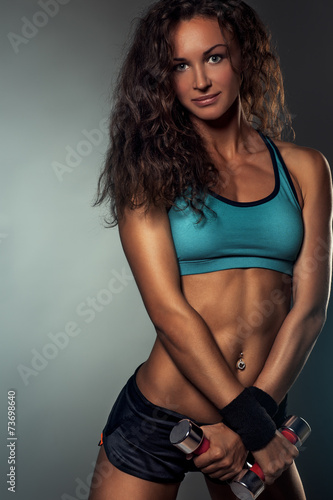 canvas print picture Young sports woman