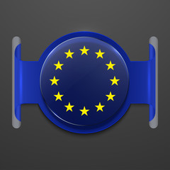 vector modern euro flag design.
