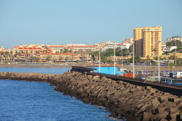 Los Cristianos resort town in Tenerife