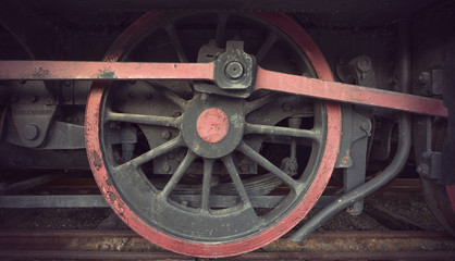 Wheel of old locomotive