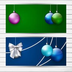 Two stylish Christmas banners