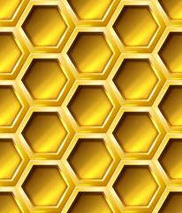 Golden seamless hexagon grid