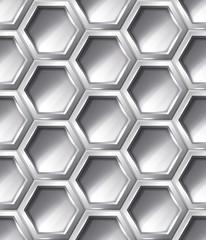 Silver realistic seamless pattern