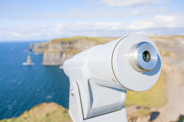 Telescope at Cliff of Moher