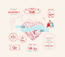 Valentine's Day and the day of the wedding set