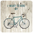 Vintage bycicle hand drawn poster - 73699605