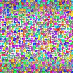 Stone Wall Mosaic Gaudi Style Background; Eps10