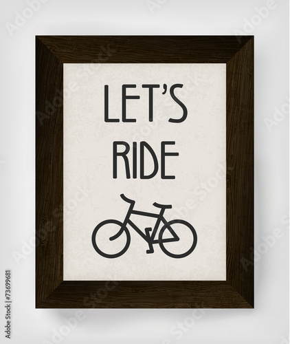 Vintage bicycle poster illustration. © pashabo