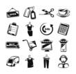 E commerce black icon set