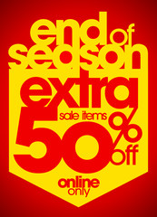 End of season extra 50% off.