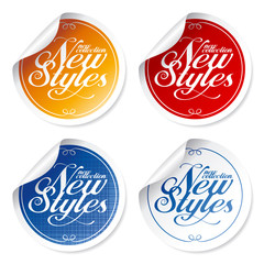 New styles vintage stickers.