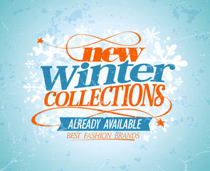 New winter collections design.